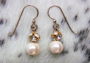 "TINY CZARINA Pearl Earrings - Crystal/gold.  50""  These are on French wires. $48"